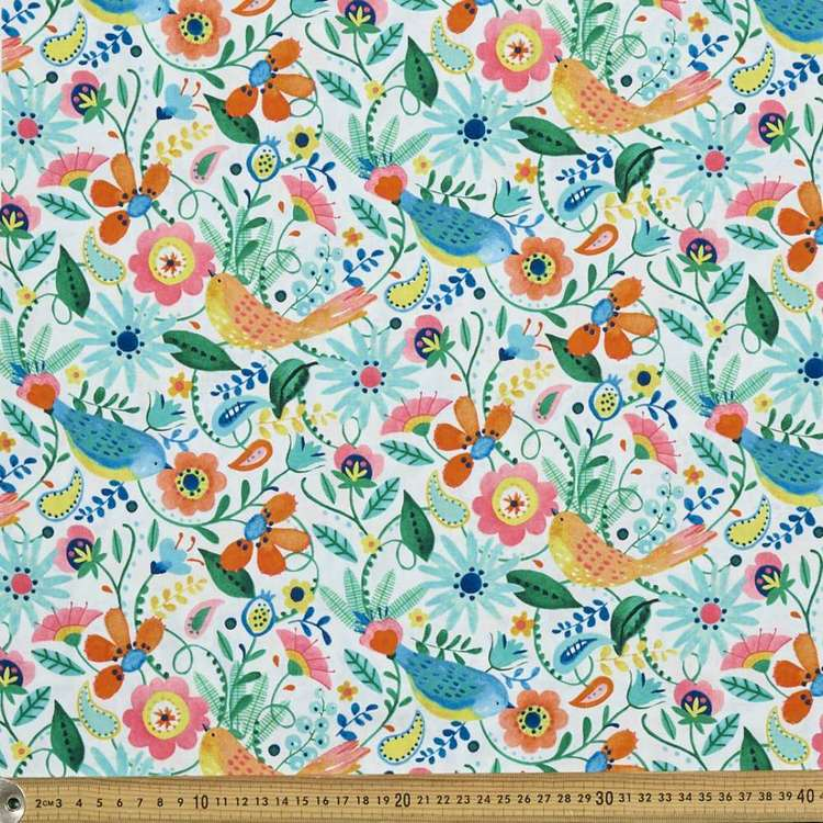 Studio E Florabelle Birds & Flowers Cotton Fabric