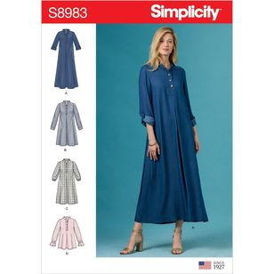 Simplicity Pattern S8983 Misses' Dresses with Sleeve Variation