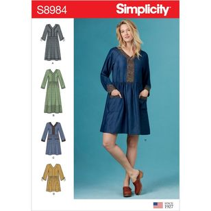 Simplicity Pattern S8984 Misses' Pocket Dresses