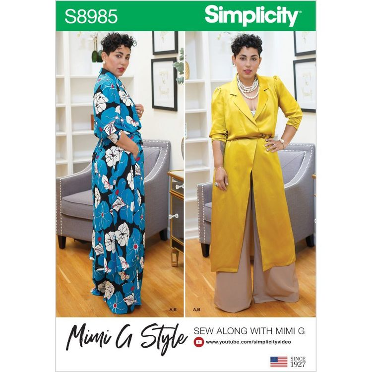 Simplicity Pattern S8985 Misses' and Women's Mimi G Style Sportswear