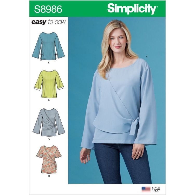 Simplicity Pattern S8986 Misses' and Women's Draped Blouse