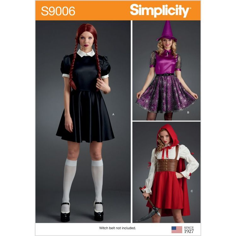 Simplicity Pattern S9006 Misses' Halloween Costumes
