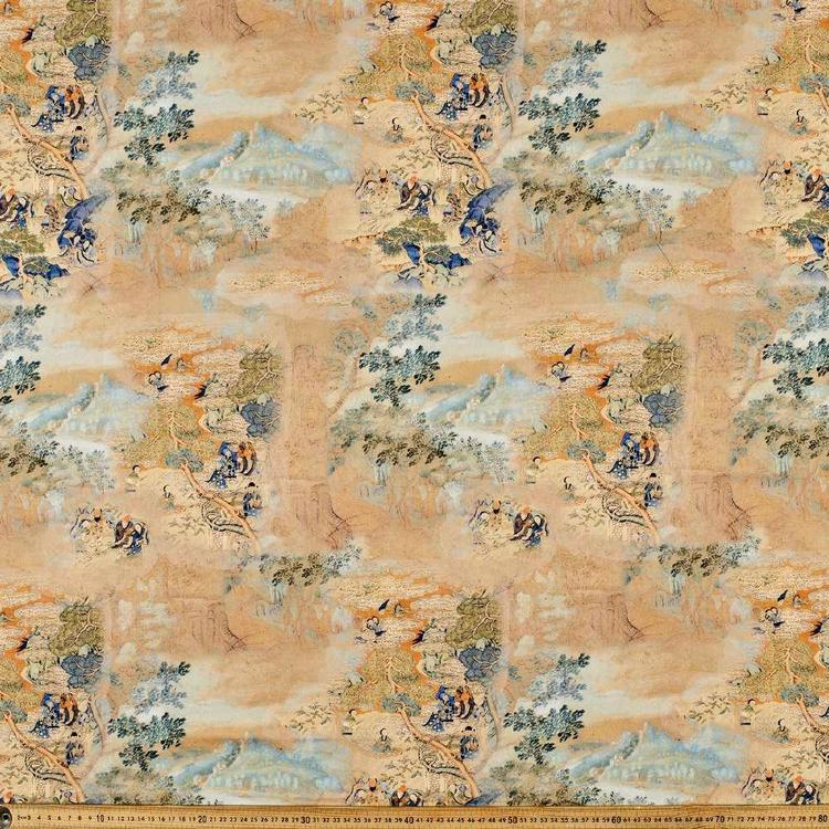 Royal Digital Printed Cotton Sateen Fabric
