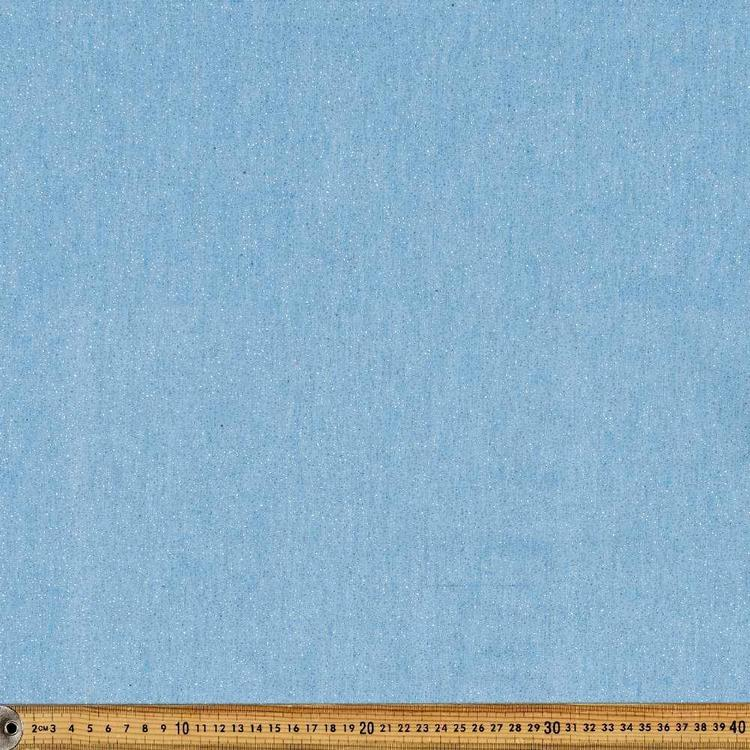Glitter Foil Printed 142 cm Denim Fabric