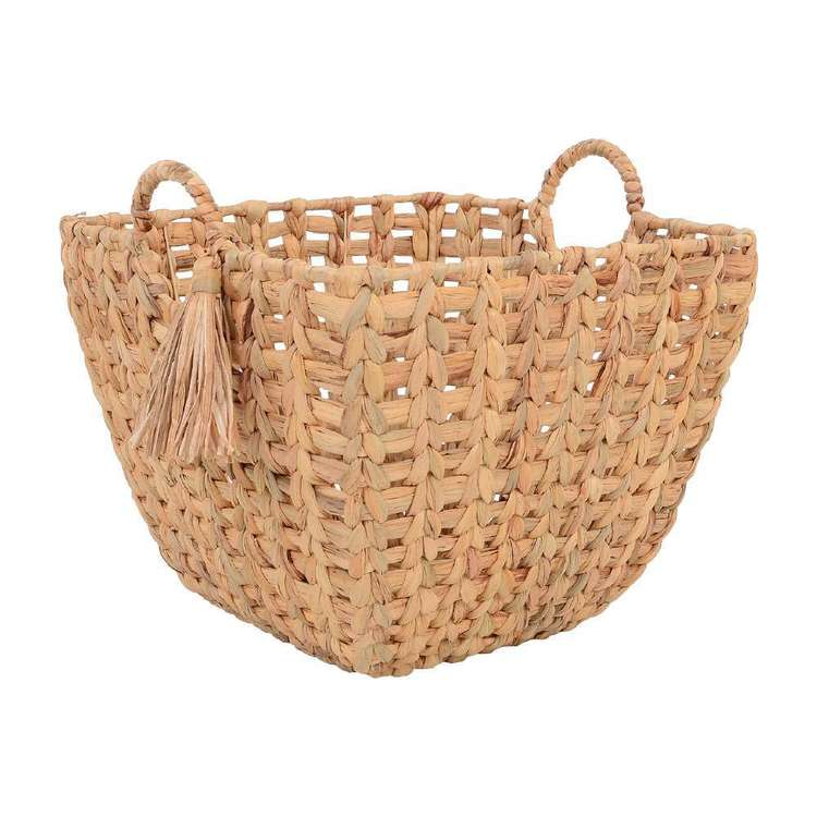 Living Space Tassel Basket With Handle
