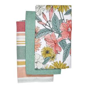 Kitchen By Ladelle Bloom Tea Towel 3 Pack