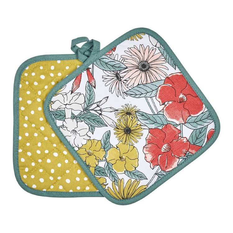 Kitchen By Ladelle Bloom Pot Holder 2 Pack