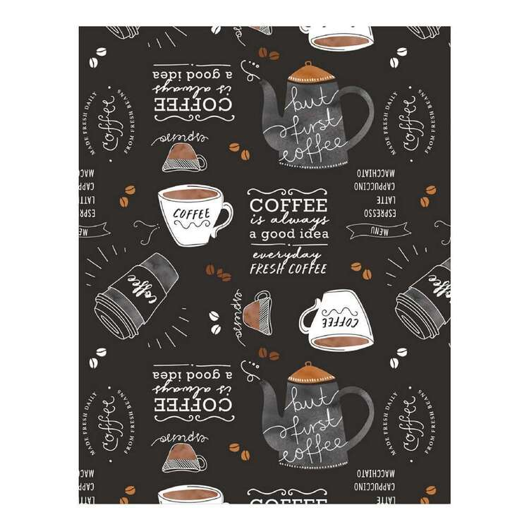 Ladelle Coffee Printed Tabletone