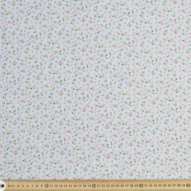 Mini Daisy Printed 112 cm Pinwale Cord Fabric