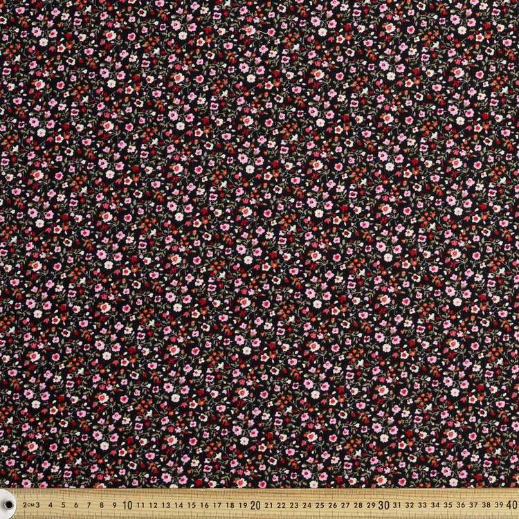 Ditsy Floral Printed 112 cm Pinwale Cord Fabric