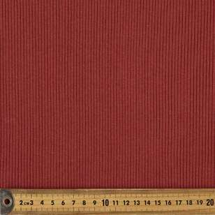 Plain Poly Cotton Ribbed Knit Fabric
