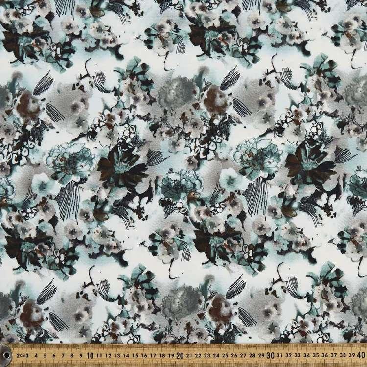 Oil Water Printed 148 cm Scuba Knit Fabric