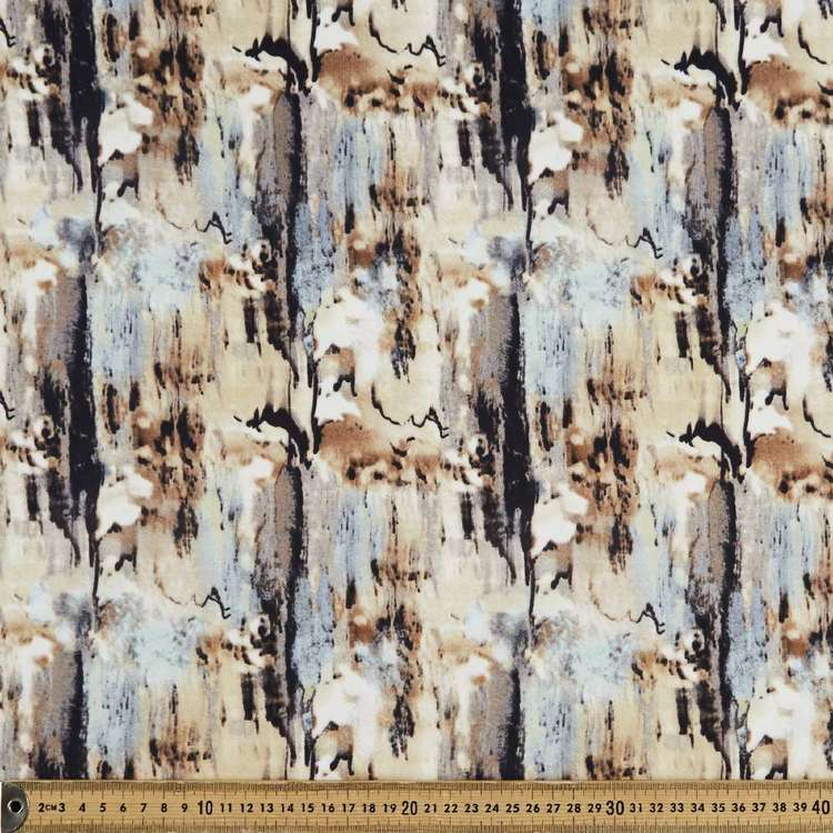 Marbled Printed 148 cm Scuba Knit Fabric