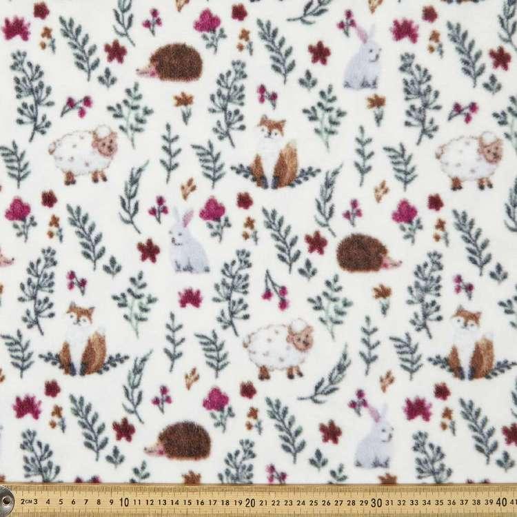 Lamb Meadow Printed 148 cm Micro Fleece Fabric