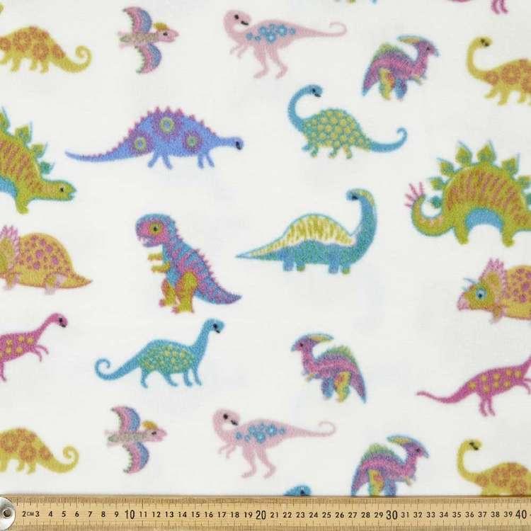 Funky Dinos Printed 148 cm Micro Fleece Fabric