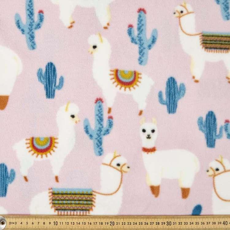 Lovely Llamas Printed 148 cm Husky Polar Fleece Fabric