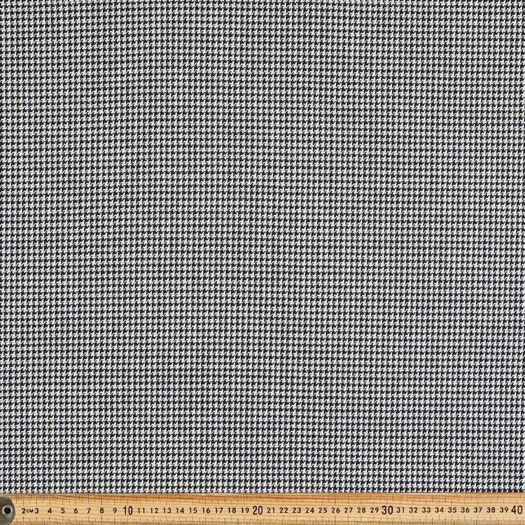 Dogstooth Check Printed 150 cm Double Knit Fabric