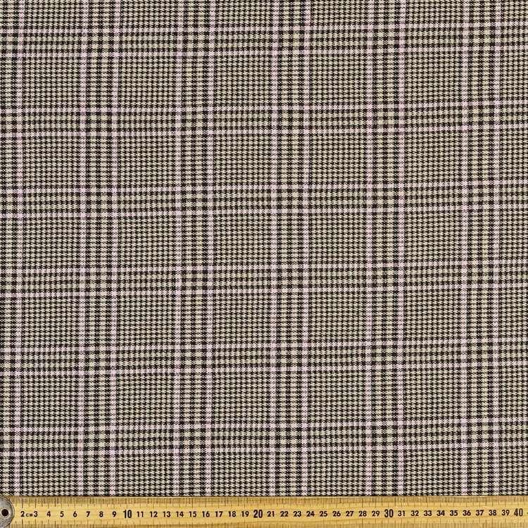 Glen Plaid Check 150 cm Double Knit Fabric