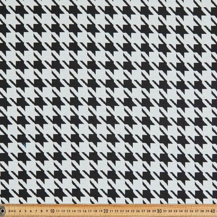 Houndstooth Check Printed 150 cm Double Knit Fabric
