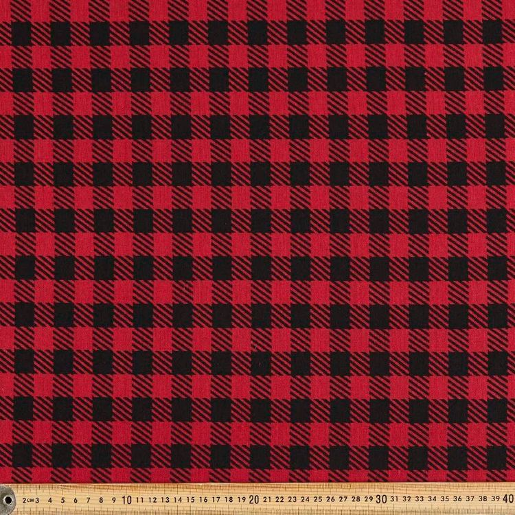 Buffalo Check Printed 150 cm Double Knit Fabric