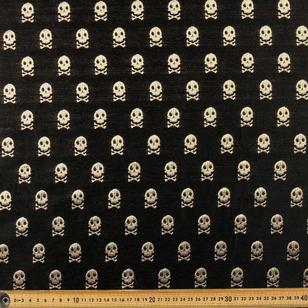 Skull Printed Brocade Collection Fabric