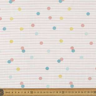 Kids Stripe Dot Canvas Slub