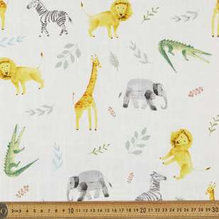 Kids Jungle Canvas Slub