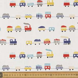 Kids Choo Choo Canvas Slub