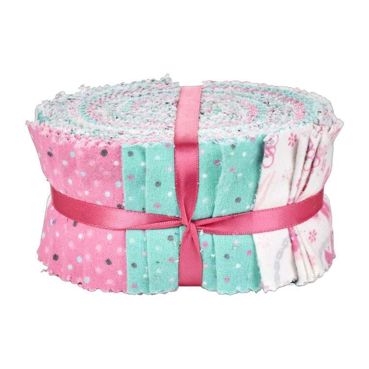 Flannel Jelly Roll # 2 Pink 6.35 x 106 cm