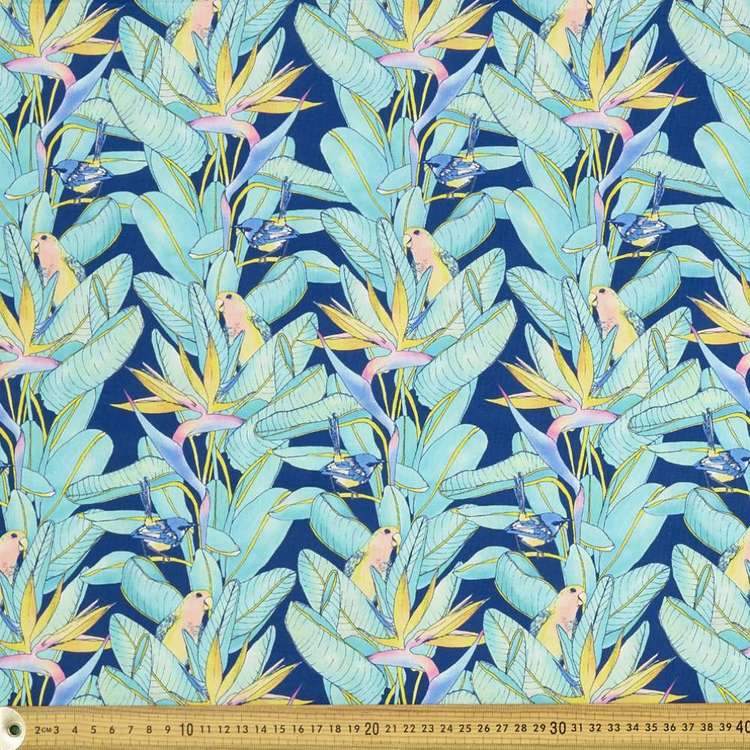 Scenic Route Birds Of Paradise Cotton Fabric