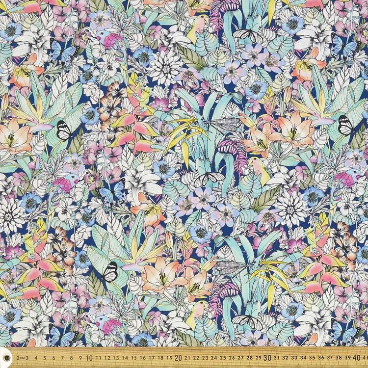 Scenic Route Botanical Midnight Cotton Fabric