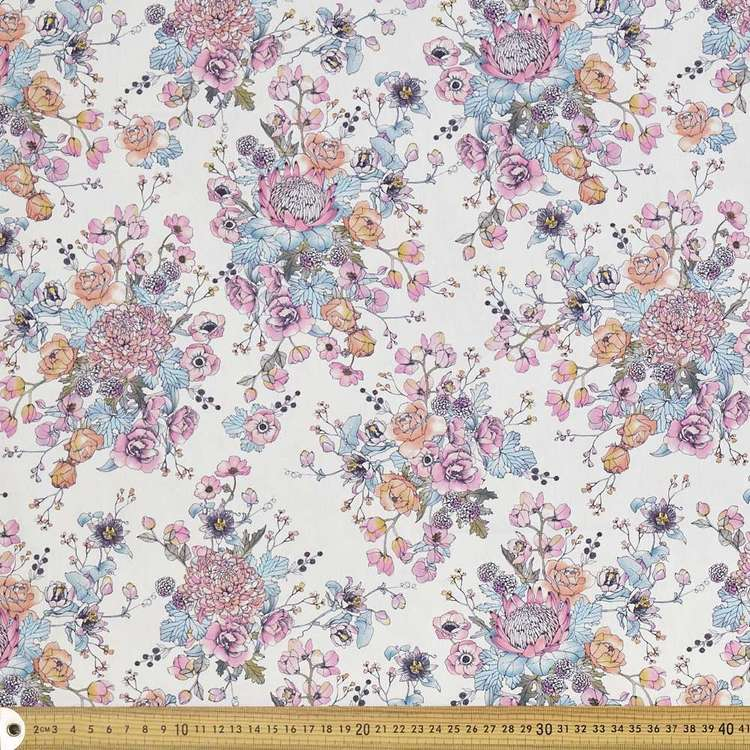 Scenic Route Romantic Blooms Cotton Fabric