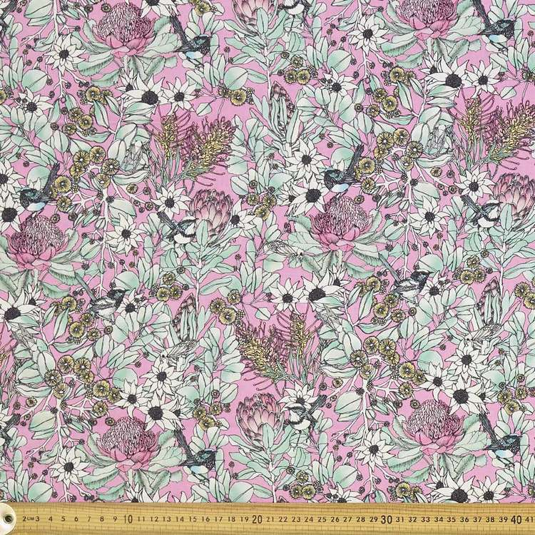 Scenic Route Native Floral Cotton Fabric