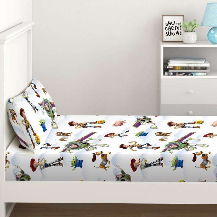 Toy Story Fitted Sheet Set Multicoloured King Single
