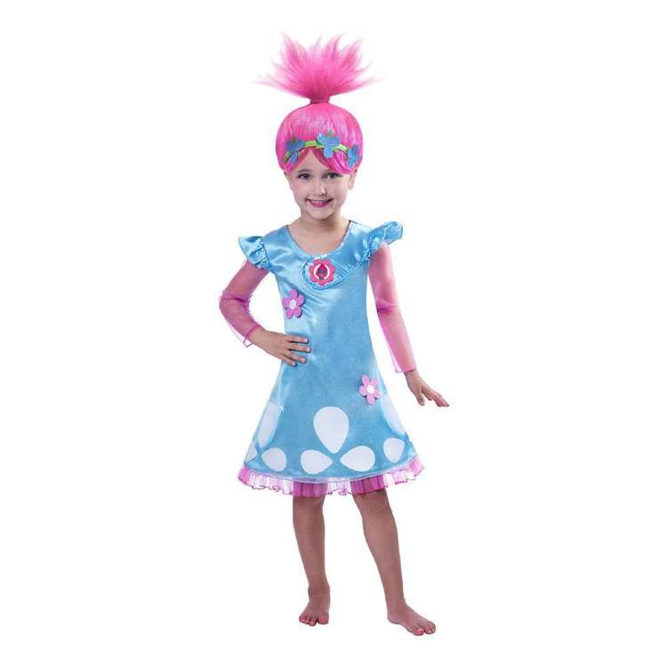 Amscan Trolls Poppy Kids Costume Pink 5 - 7 Years