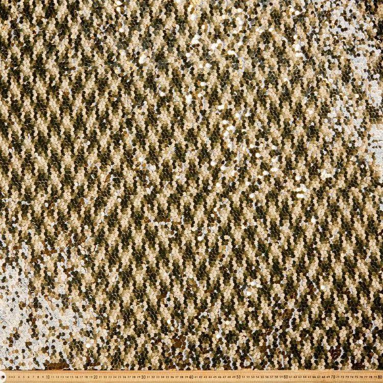 Plain Reversible Gold Sequin 132 cm Fabric