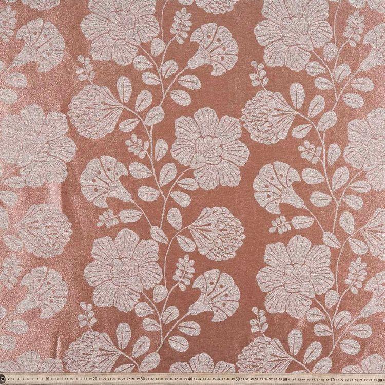 Oriental Leaves Jacquard Curtain Fabric
