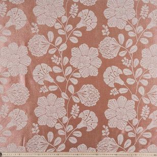 Oriental Leaves Jacquard Curtain Fabric