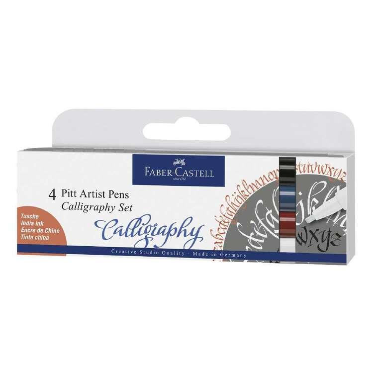 Faber Castell Pitt Artist Pen Calligraphy Essentials 4 Pack