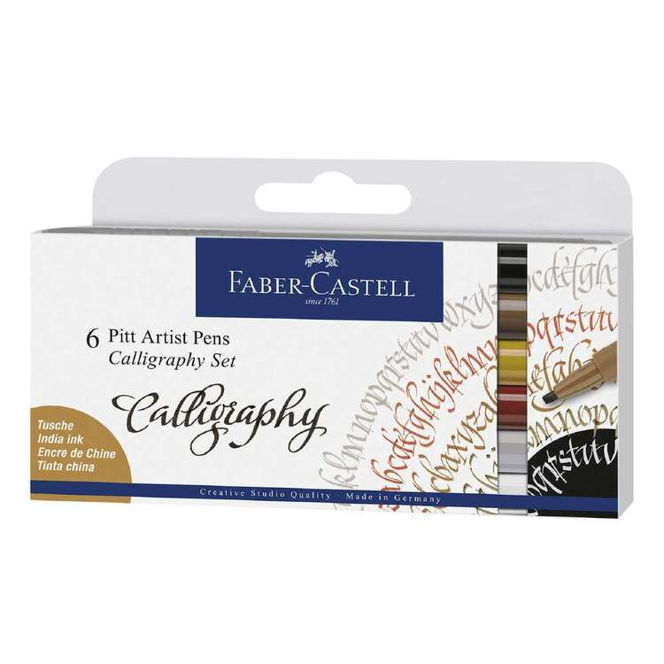 Faber Castell Pitt Artist Pen Calligraphy 6 Pack