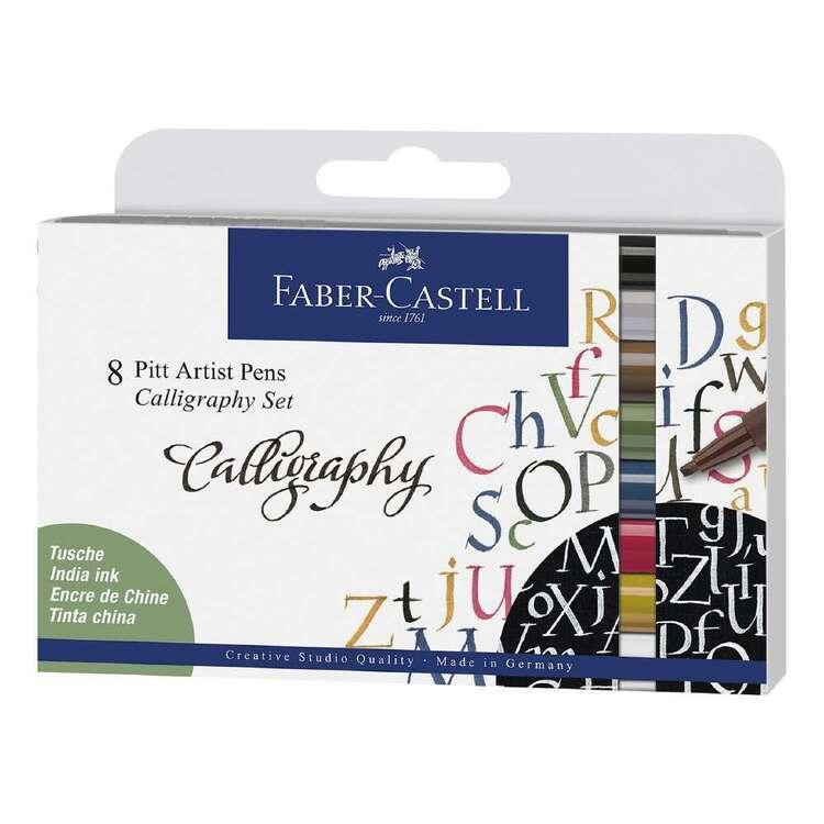 Faber Castell Pitt Artist Pen Calligraphy 8 Pack