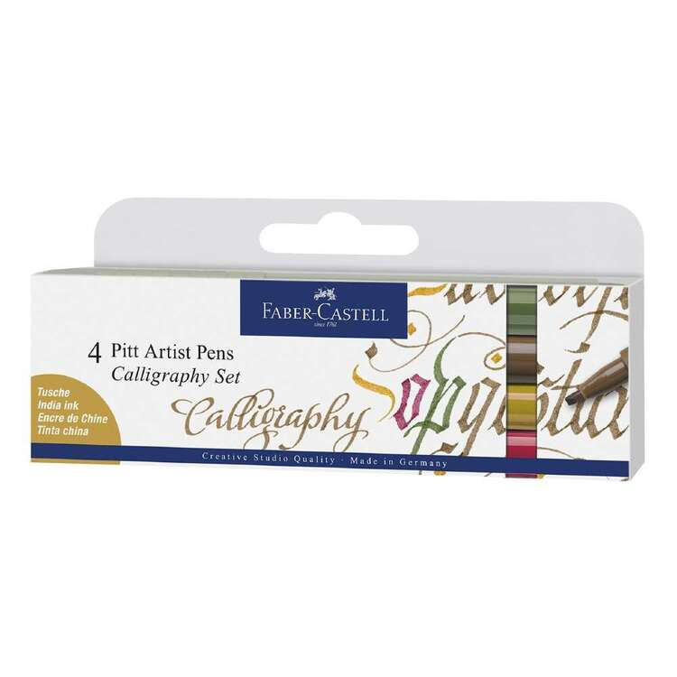 Faber Castell Pitt Artist Pen Calligraphy 4 Pack