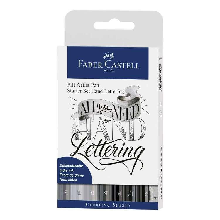 Faber Castell Pitt Artist Pen Starter Hand Lettering 8 Pack