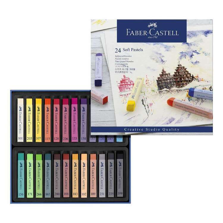 Faber Castell 24 Oil Pastels Cardboard Box