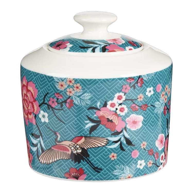 Dine By Ladelle Chinoiserie Sugar Bowl