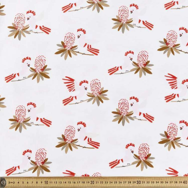 Jocelyn Proust Mitch Cockatoo Printed 112 cm Jersey Fabric