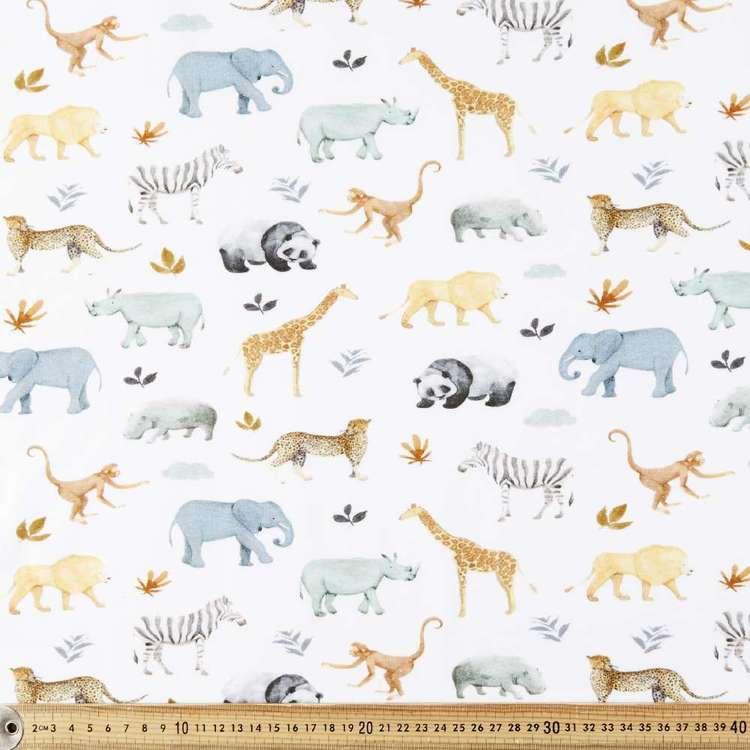 Jungled Printed Cotton Spandex Fabric