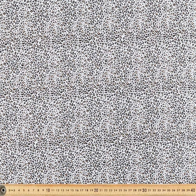 Leopard Animal Printed 148 cm Cotton Spandex Fabric