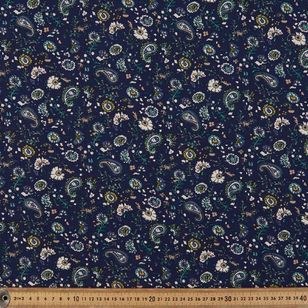 Paisley Scatter Printed 135 cm Rayon Fabric