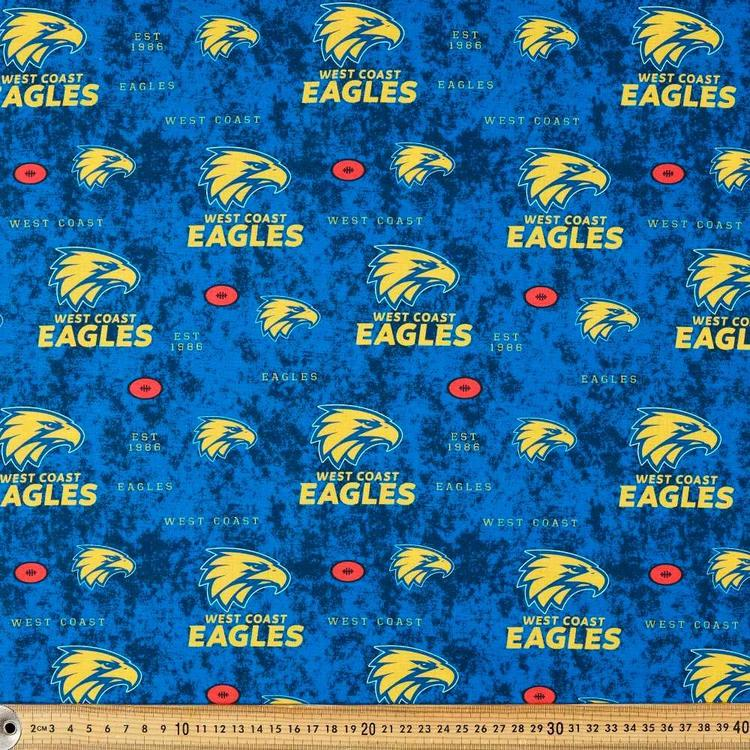 AFL West Coast Eagles Logo Homespun Fabric